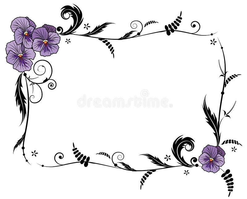 Rama z altówka kwiatami royalty ilustracja