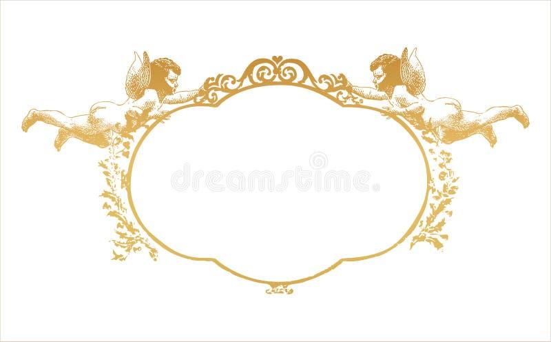 Rama z dwa herubs royalty ilustracja