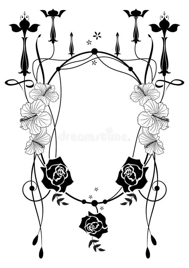 Rama z fuksją i poślubnikiem, różany royalty ilustracja