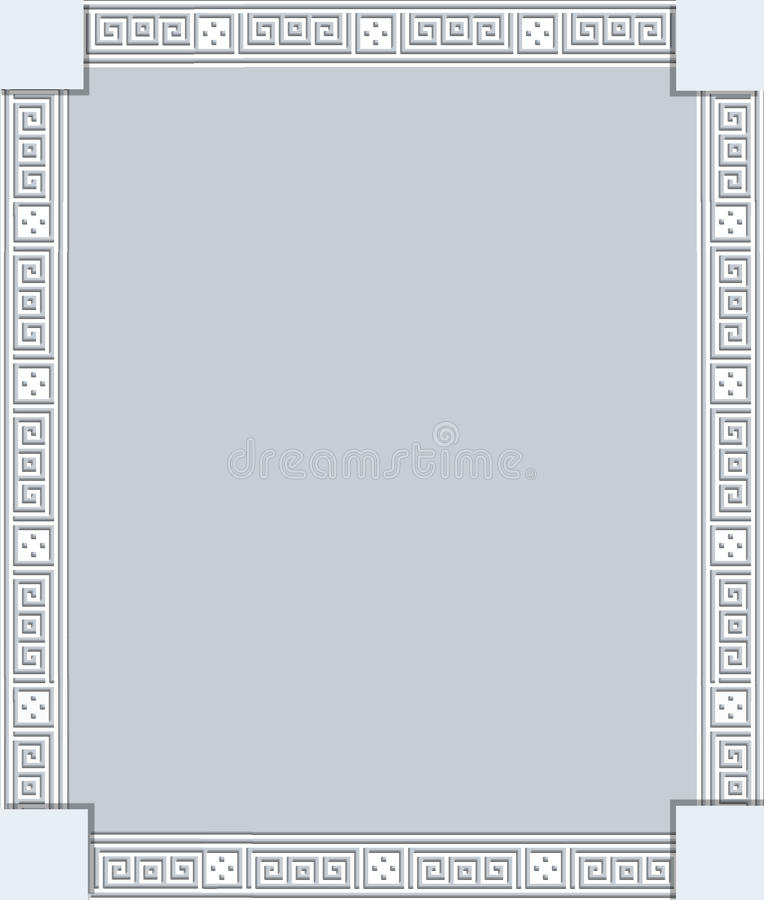 Rama z greckimi ornamentami royalty ilustracja