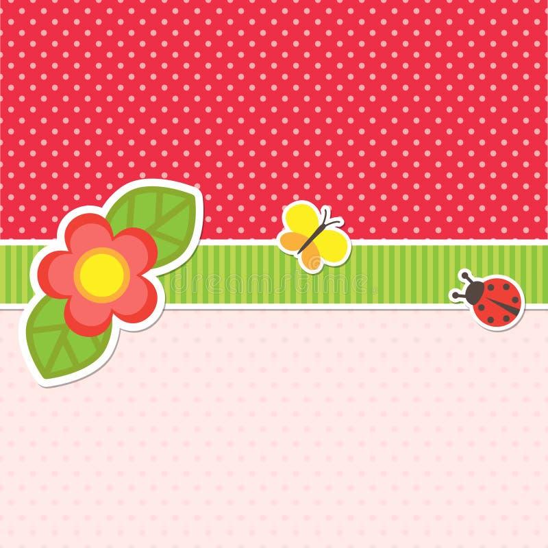 Rama z kwiatem royalty ilustracja