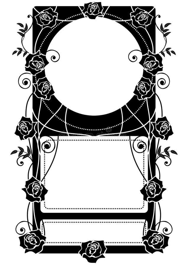Rama z różami royalty ilustracja