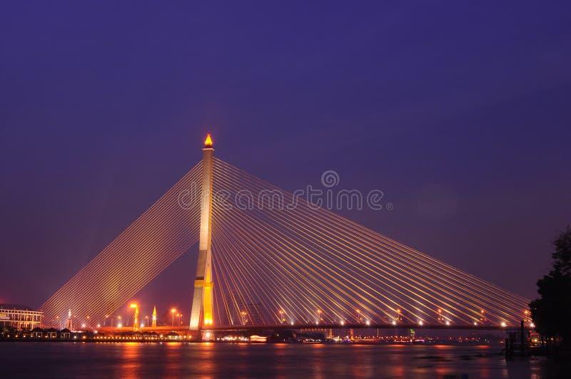 RAMA8 Bridge. One of landmark in Bangkok Thailand royalty free stock photos