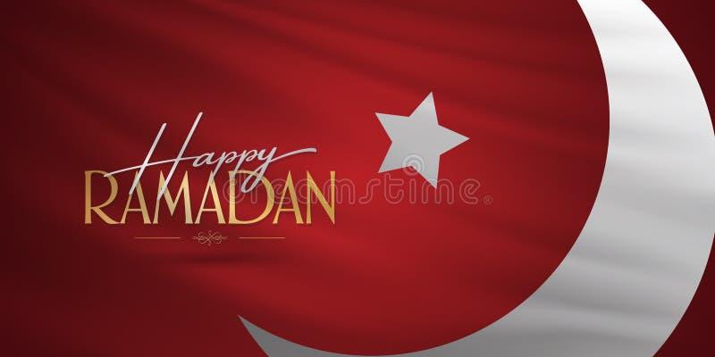 Ramad? feliz M?s santamente da comunidade mu?ulmana Ramazan Quadro de avisos, cartaz, meio social, molde do cart?o ilustração royalty free