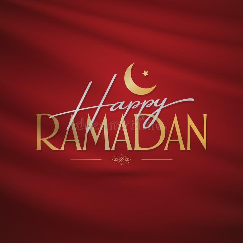 Ramad? feliz M?s santamente da comunidade mu?ulmana Ramazan Quadro de avisos, cartaz, meio social, molde do cart?o ilustração do vetor
