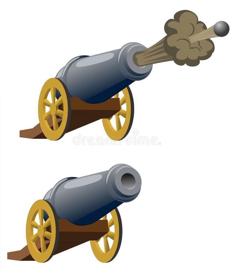ramadan的大炮 向量例证