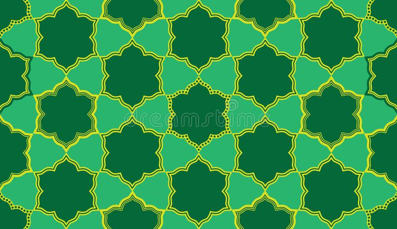 Ramadan έξι αστέρι έξι άνευ ραφής σχέδιο συμμετρίας μορφής διανυσματική απεικόνιση