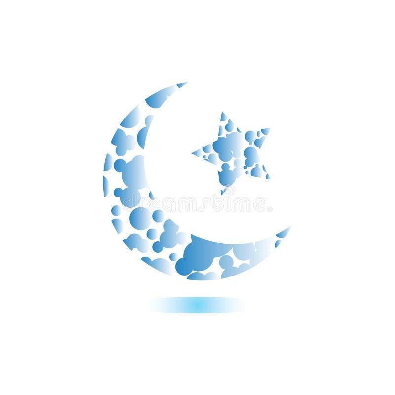 Ramadan και διάνυσμα σχεδίου λογότυπων Eid Μουμπάρακ διανυσματική απεικόνιση