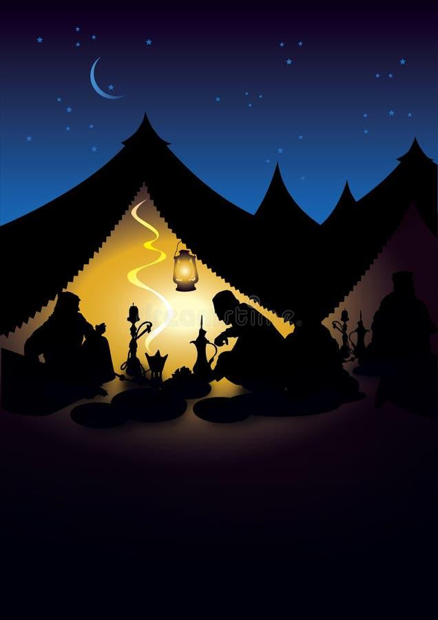 ramadan σκηνή διανυσματική απεικόνιση