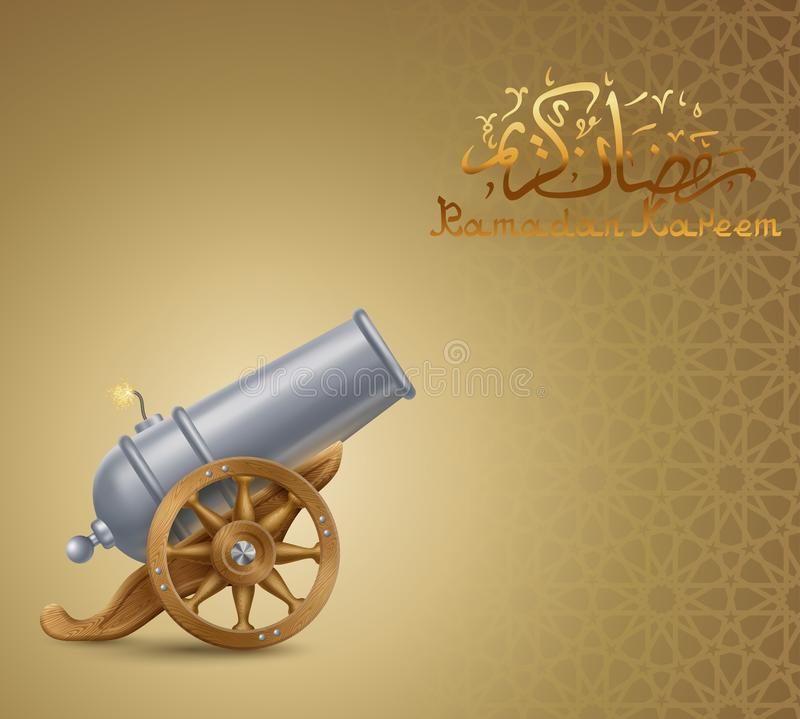 Ramadan Background con il cannone royalty illustrazione gratis