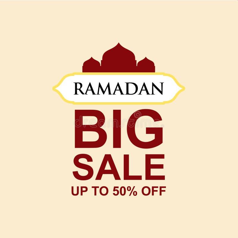 Ramadan Big Sale bis 50% weg von der Vektor-Schablonen-Entwurfs-Illustration vektor abbildung