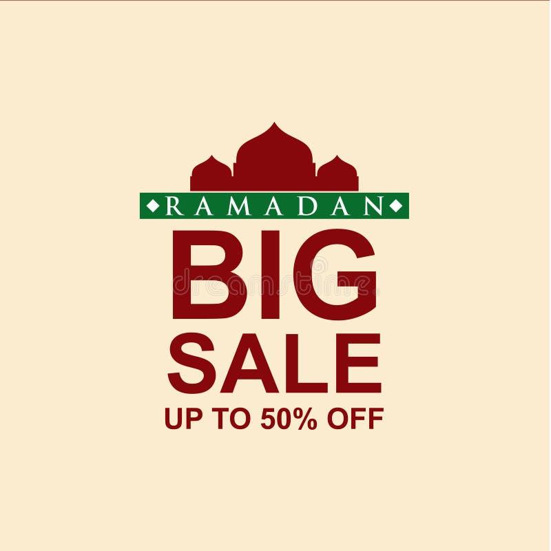 Ramadan Big Sale bis 50% weg von der Vektor-Schablonen-Entwurfs-Illustration lizenzfreie abbildung