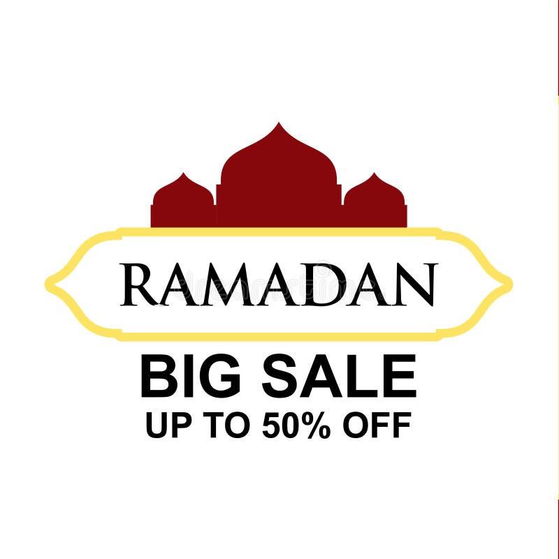 Ramadan Big Sale bis 50% weg von der Vektor-Schablonen-Entwurfs-Illustration stock abbildung