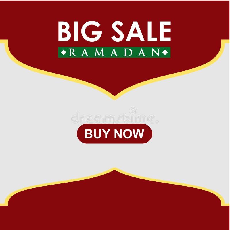 Ramadan Big Sale Buy Now-Vektor-Schablonen-Entwurfs-Illustration vektor abbildung