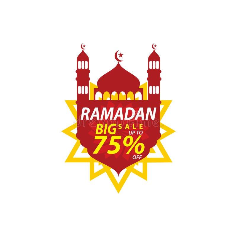 Ramadan Big Sale Design Vector Conveniente para la tarjeta, la bandera y el cartel de felicitación stock de ilustración