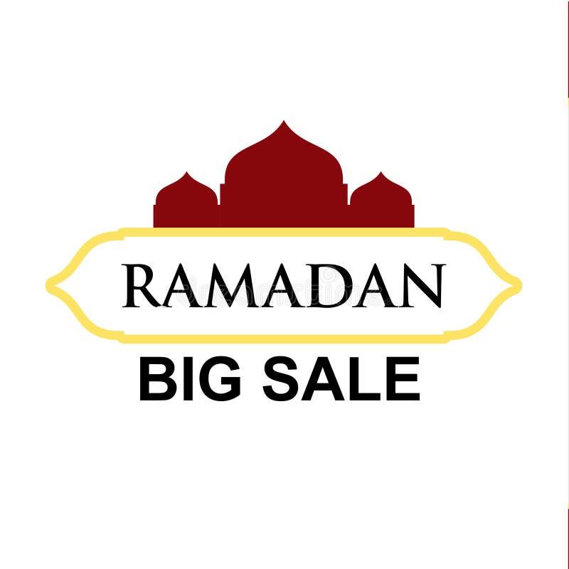 Ramadan Big Sale Vector Template-Entwurfs-Illustration lizenzfreie abbildung