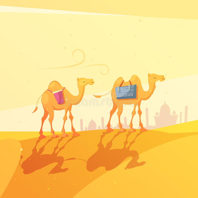 Ramadan Camel Illustration royaltyfri illustrationer
