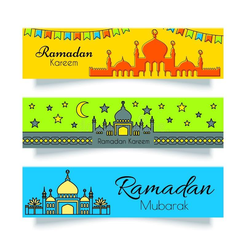 Ramadan chodnikowowie lub ilustracji