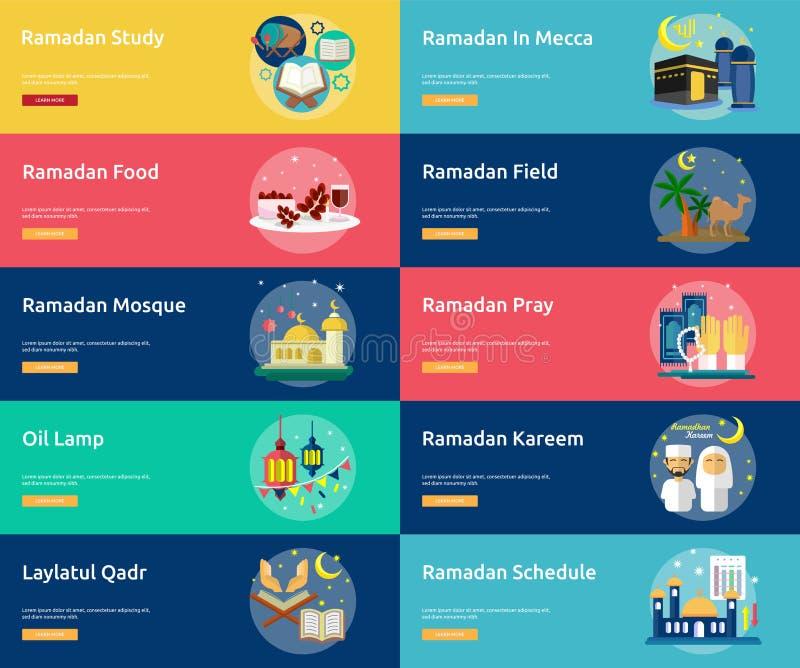 Ramadan Conceptual Banner Design royaltyfri illustrationer
