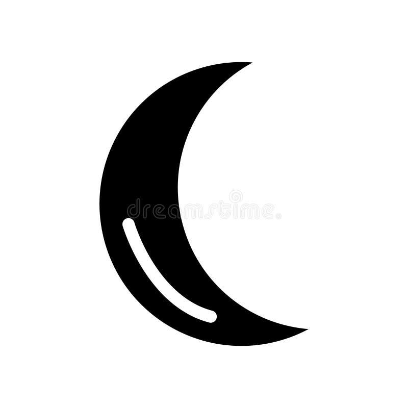 Ramadan Crescent Moon-pictogram In Ramadan Crescent Moon-mede embleem stock illustratie