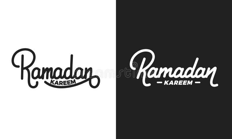 ramadan Diseño de letras musulmán de la enhorabuena del día de fiesta Diseño de la caligrafía del día de fiesta de Ramadan Kareem libre illustration