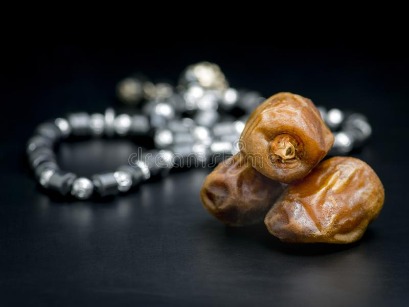 Ramadan Dried Dates and Rosary royalty free stock photos