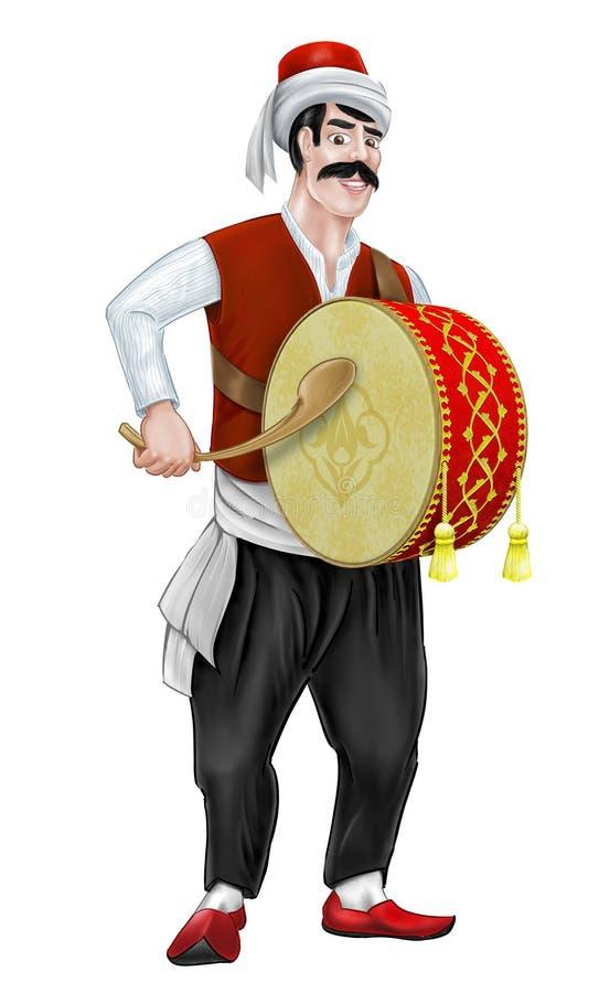 Ramadan drummer royalty free illustration