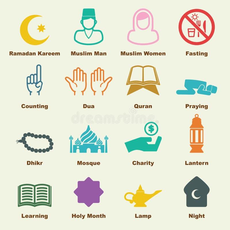 Ramadan elementy ilustracji