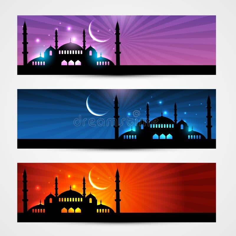 Ramadan et en-têtes d'eid illustration libre de droits