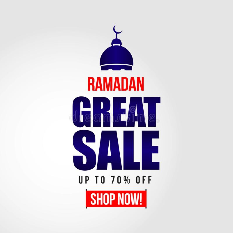 Ramadan Great Sale Vector Template-Entwurfs-Illustration lizenzfreie abbildung