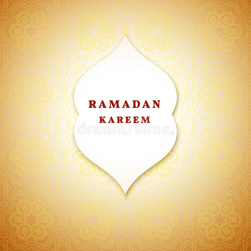 Ramadan-Grußhintergrund Ramadan Kareem bedeutet Ramadan der großzügige Monat stock abbildung