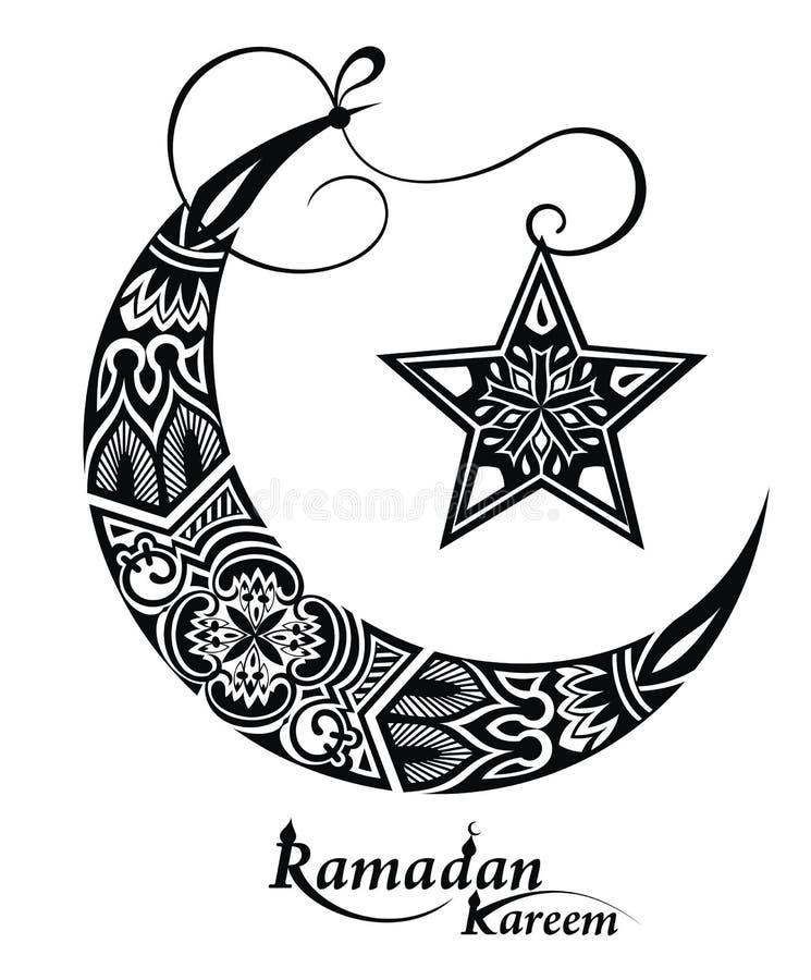 Ramadan-Grußkarte mit Mond lizenzfreie abbildung