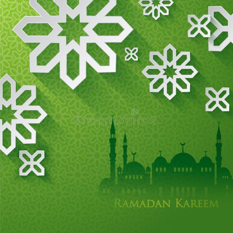 ramadan hälsningar vektor illustrationer
