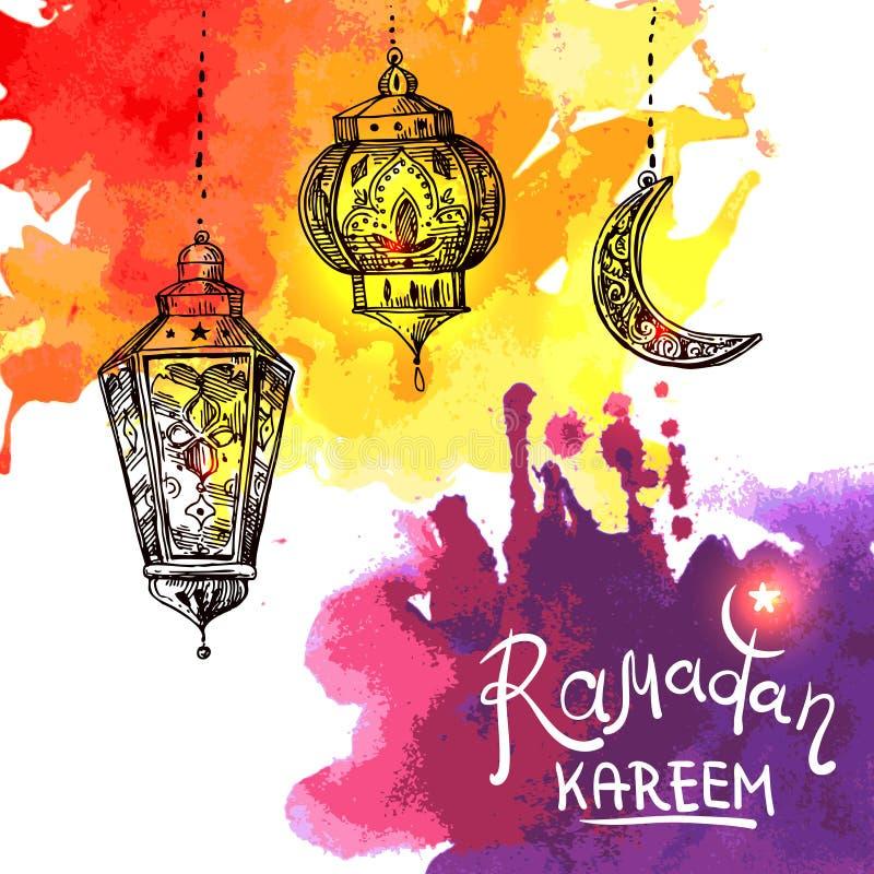 ramadan ilustracyjny kareem ilustracja wektor