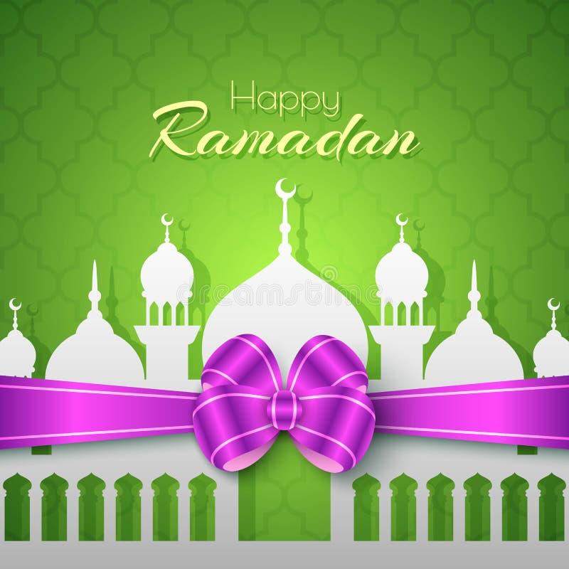 Ramadan Islamic Greeting Background feliz ilustração stock