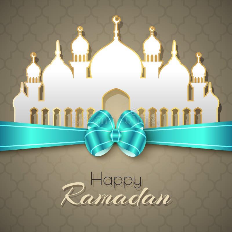 Ramadan Islamic Greeting Background feliz ilustração do vetor