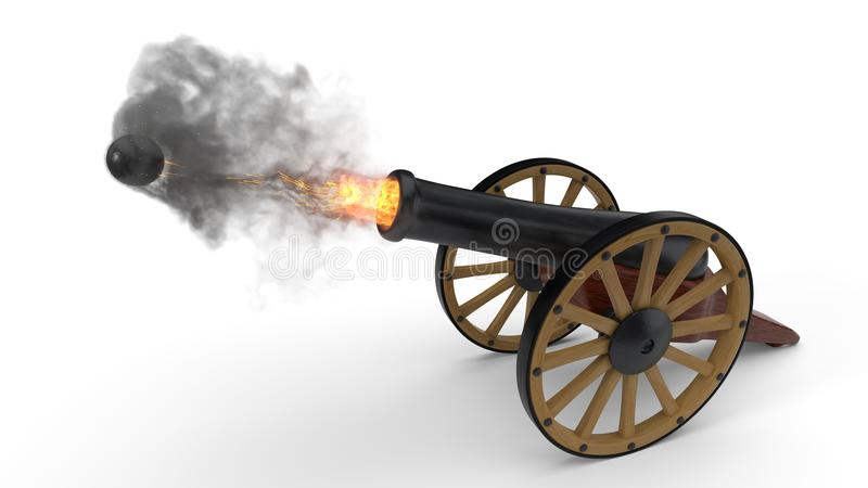 Ramadan-Kanonenschussmoment Abbildung 3D vektor abbildung