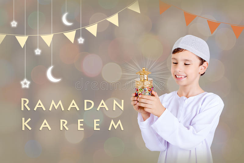 Ramadan Kareem - ευχετήρια κάρτα στοκ φωτογραφίες με δικαίωμα ελεύθερης χρήσης