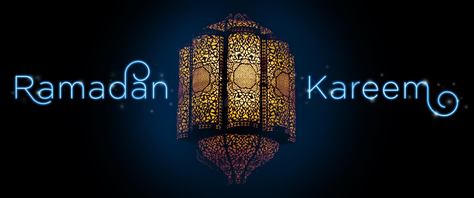 'Ramadan Kareem'. Greeting card template
