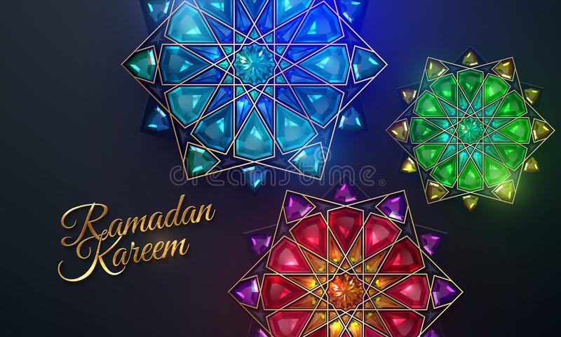 Ramadan Kareem Abstracte girihbloemen royalty-vrije stock afbeelding