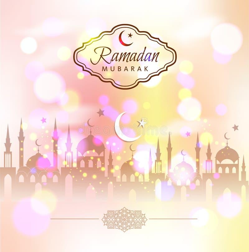 Ramadan Kareem abstrakt begreppbakgrund royaltyfri illustrationer