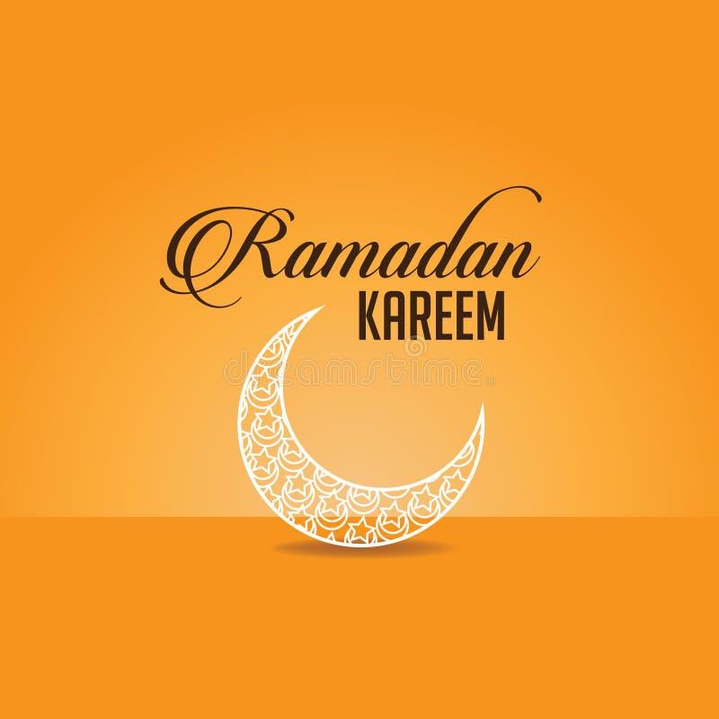 Ramadan-kareem Arabeskenmond vektor abbildung