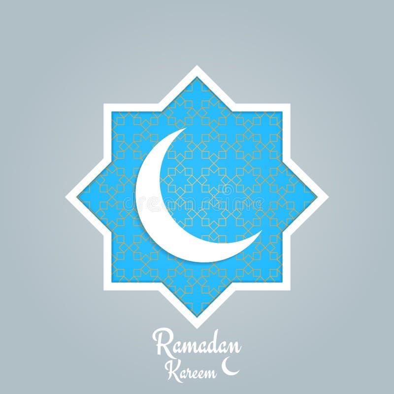 Ramadan Kareem Arabische achtergrond met maan, gouden patroon en typografie