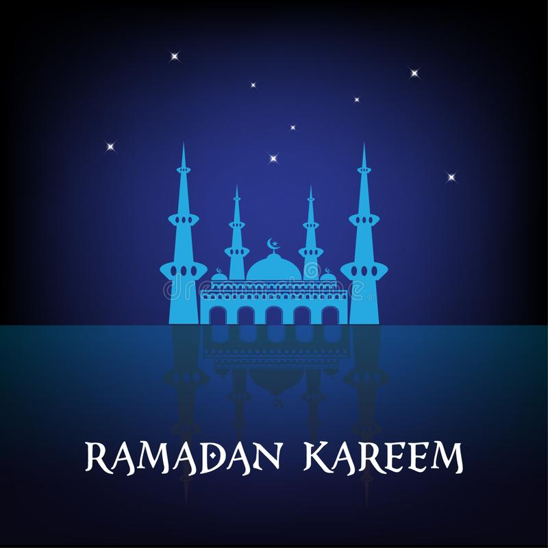 Ramadan Kareem background stock illustration