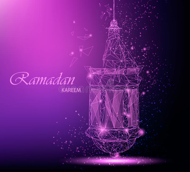 Ramadan kareem beautiful greeting card with traditional arabic download ramadan kareem beautiful greeting card with traditional arabic lantern polygonal art stock vector m4hsunfo