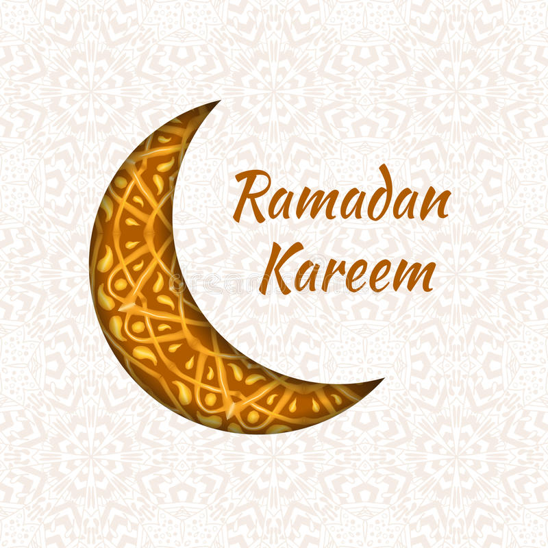 Ramadan Kareem-de achtergrond van het groetontwerp royalty-vrije illustratie