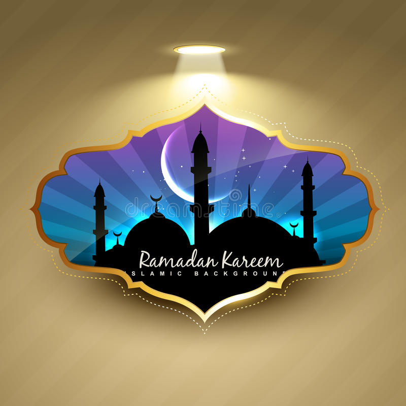 Ramadan kareem etykietka ilustracji