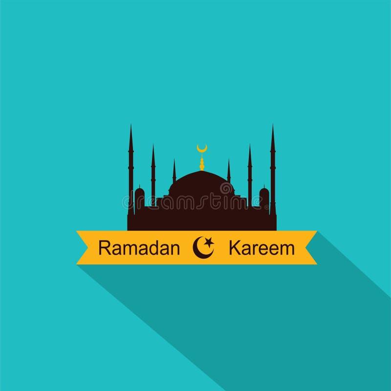 Ramadan Kareem Flat Design stock illustration