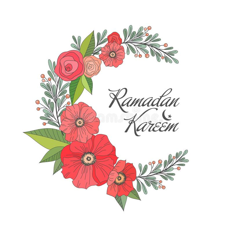 Ramadan Kareem greeting background stock illustration