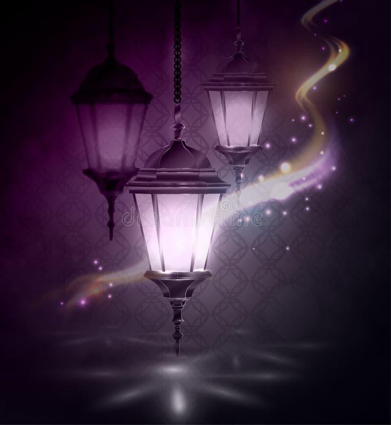 Ramadan Kareem, greeting background royalty free illustration